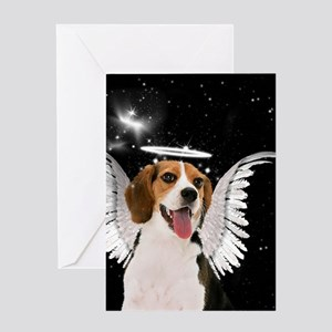 Beagle Angel Dog Greeting Cards