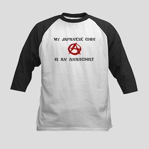 Japanese Chin anarchist Kids Baseball Jersey
