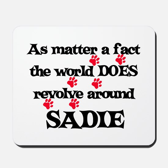 The World Revolves Around Sad Mousepad