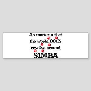 The World Revolves Around Sim Bumper Sticker