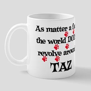 The World Revolves Around Taz Mug