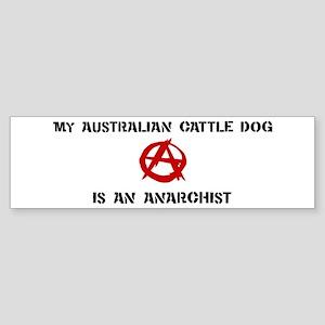 Australian Cattle Dog anarchi Bumper Sticker