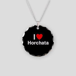 Horchata Necklace Circle Charm