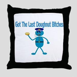 Last Doughnut Throw Pillow
