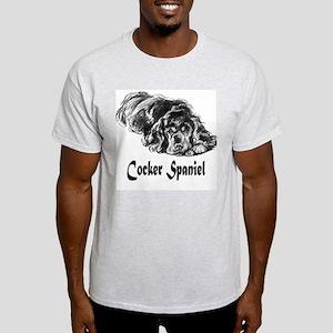 Vintage Cocker Spaniel Ash Grey T-Shirt