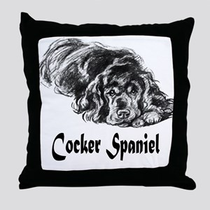 Vintage Cocker Spaniel Throw Pillow