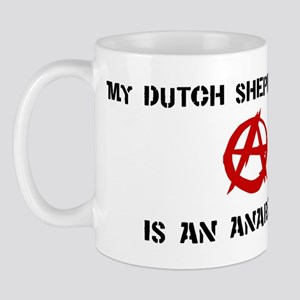 Dutch Shepherd Dog anarchist Mug