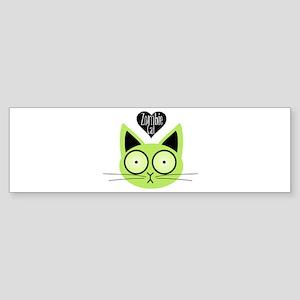 Zombie Cat Bumper Sticker