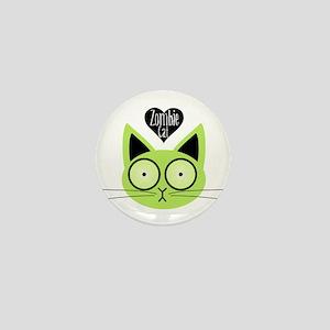 Zombie Cat Mini Button