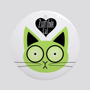 Zombie Cat Ornament (Round)