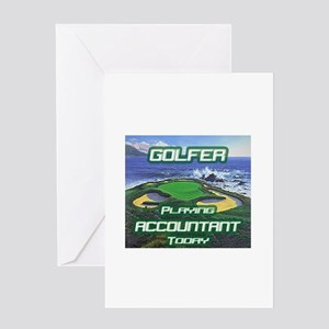 """""""Golfer Playing Accountant Today"""" Greeting Card"""
