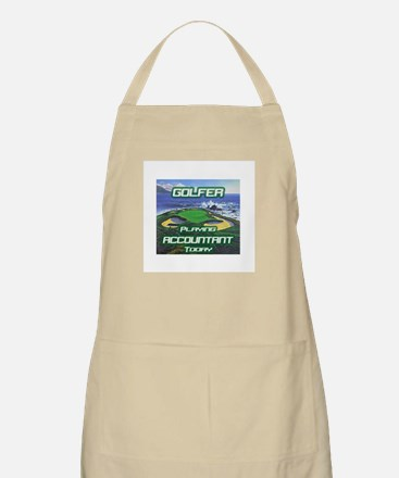 """Golfer Playing Accountant Today"" BBQ Apron"