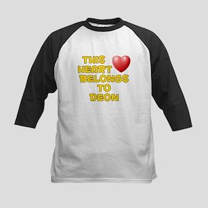 This Heart: Deon (D) Kids Baseball Jersey