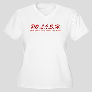 Polish Letters Plus Size T-Shirt