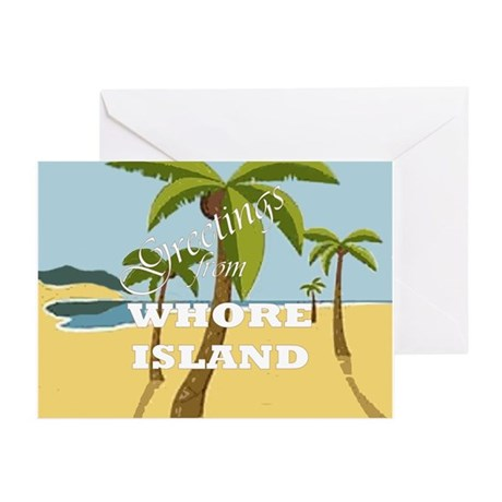 Whore Island Greeting Cards (Pk of 10)