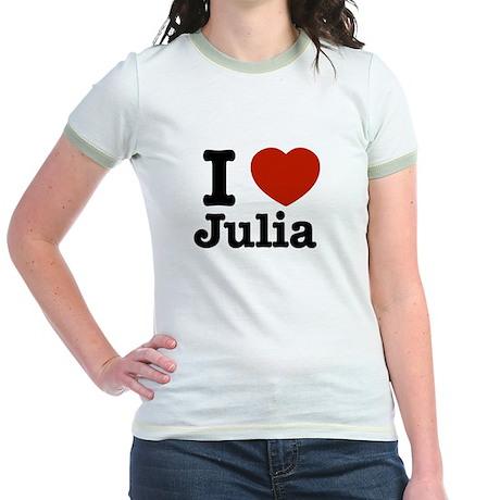 I love Julia Jr. Ringer T-Shirt