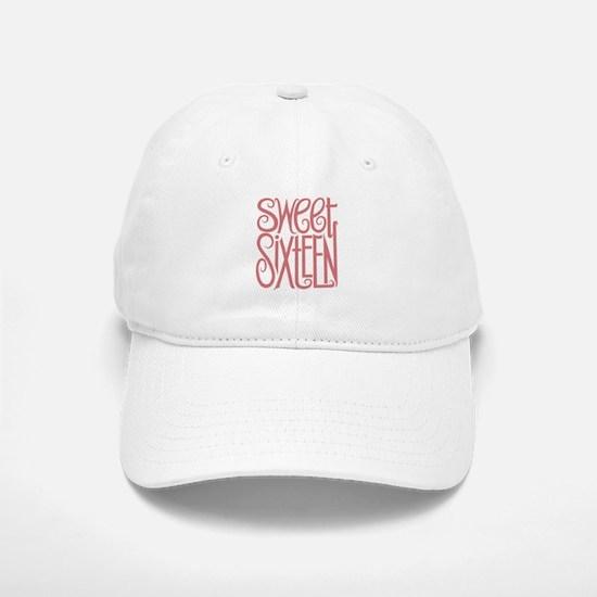 Sweet Sixteen Baseball Baseball Cap