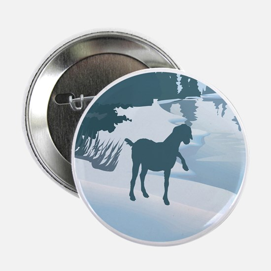 "Scenic Goat Christmas 2.25"" Button"