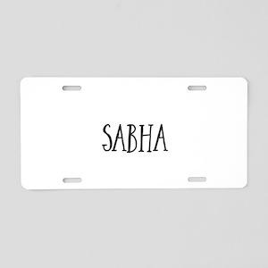 Sabha Aluminum License Plate
