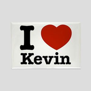 I love Kevin Rectangle Magnet