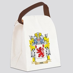 Fox Coat of Arms - Family Crest Canvas Lunch Bag