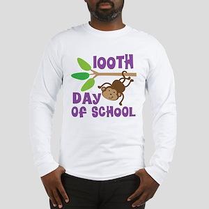 100th Day Of School (monkey) Long Sleeve T-Shirt