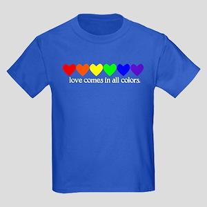 Love Rainbow Kids Dark T-Shirt