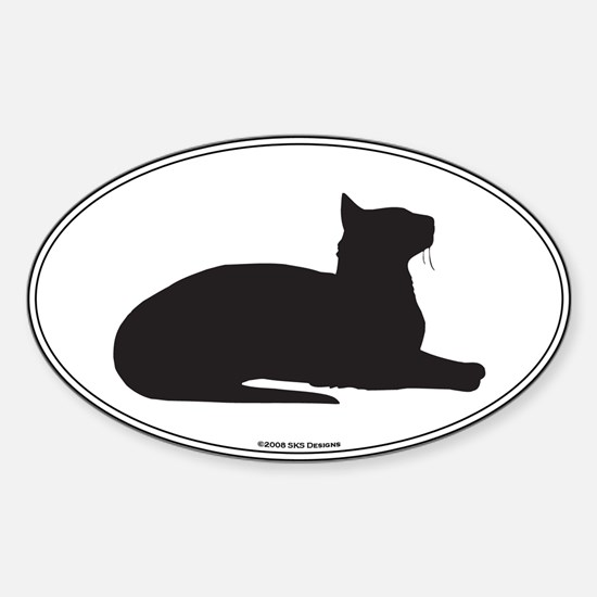 Oriental Silhouette Oval Decal