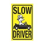 Slow Driver Rectangle Sticker