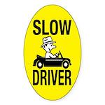 Slow Driver Oval Sticker