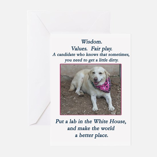 Lab For President Greeting Cards (Pk of 20)