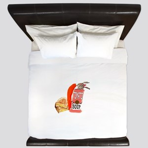 Grilled Cheese Tomato Soup King Duvet