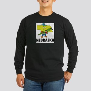 Nebraska Fun State Long Sleeve Dark T-Shirt