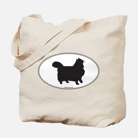 Norwegian Forest Silhouette Tote Bag