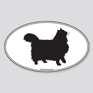 Norwegian Forest Silhouette Oval Sticker