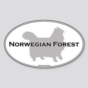 Norwegian Forest Oval Oval Sticker