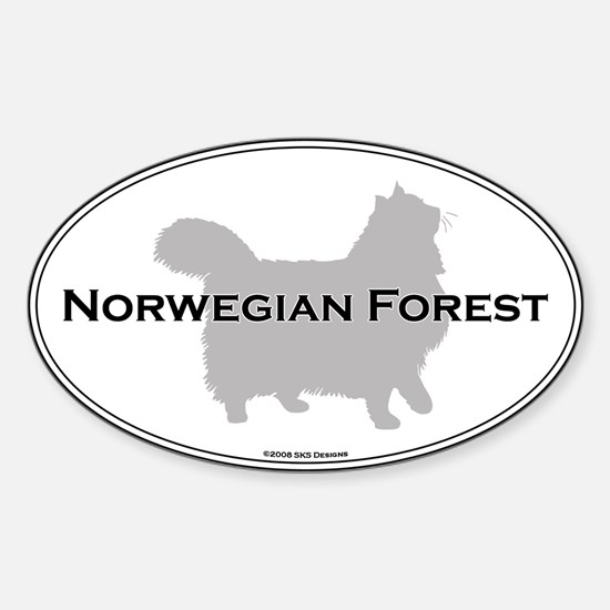 Norwegian Forest Oval Oval Decal