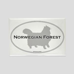 Norwegian Forest Oval Rectangle Magnet