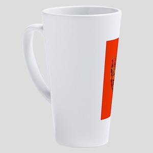 Colorful Orange Menorah Hanukkah 4 17 oz Latte Mug
