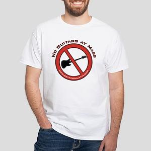 No Guitars White T-Shirt