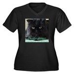 Strong Candidate? Women's Plus Size V-Neck Dark T-