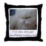 Strong Candidate? II Throw Pillow