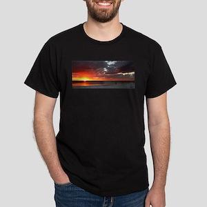 Sunset over couple Dark T-Shirt
