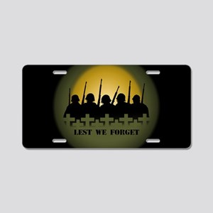 Lest We Forget War Memorial Aluminum License Plate