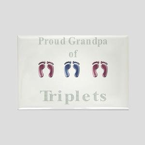 proud grandpa of triplets 2 g Rectangle Magnet