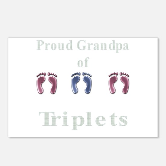 proud grandpa of triplets 2 g Postcards (Package o