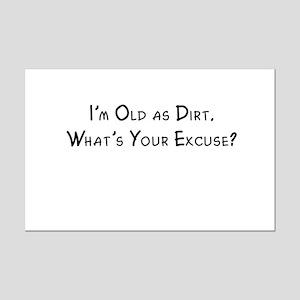 Old as Dirt Mini Poster Print