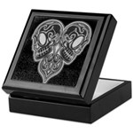 Skull Heart Keepsake Box