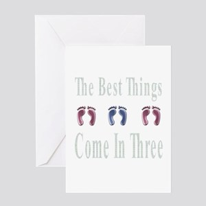 best things come in three Greeting Card