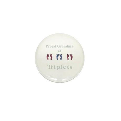 proud grandma of triplets Mini Button